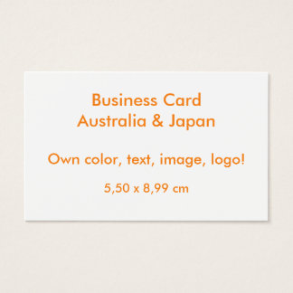 Oceania Business Card uni White ~ Own Color