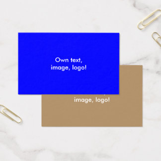 Oceania Business Cards Royal Blue-Gold