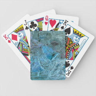 Oceania Teal & Blue Marble Bicycle Playing Cards