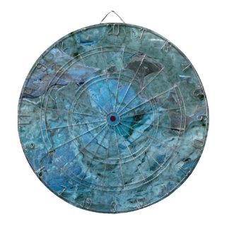 Oceania Teal & Blue Marble Dartboard