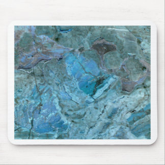 Oceania Teal & Blue Marble Mouse Pad