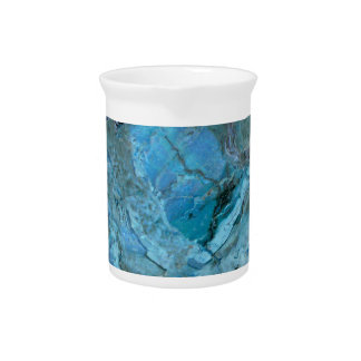 Oceania Teal & Blue Marble Pitcher