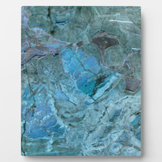 Oceania Teal & Blue Marble Plaque