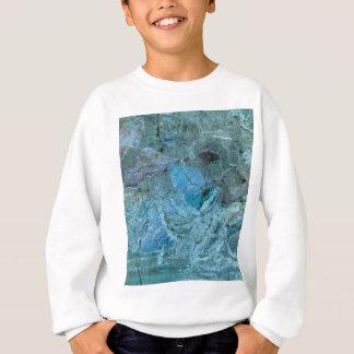 Oceania Teal & Blue Marble Sweatshirt