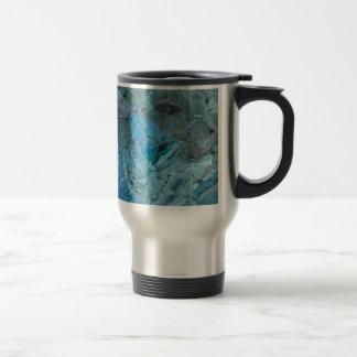 Oceania Teal & Blue Marble Travel Mug