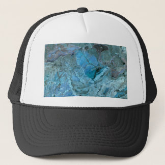 Oceania Teal & Blue Marble Trucker Hat