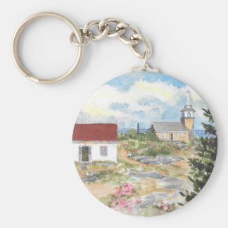 Oceanic Hotel on Star Island View Basic Round Button Key Ring