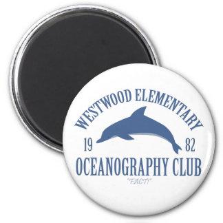 Oceanography Club 6 Cm Round Magnet