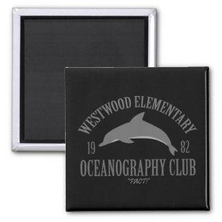 Oceanography Club Square Magnet