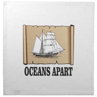 oceans apart fun napkin