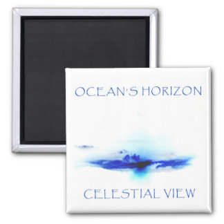OCEAN'S HORIZON by Celestial View Square Magnet
