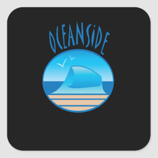 Oceanside Beach Wave Sticker