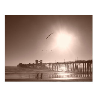 Oceanside, CA Pier Postcard