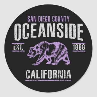 Oceanside Classic Round Sticker