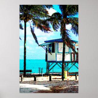 Oceanside Lifeguard Tower Poster