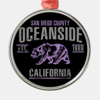 Oceanside Metal Ornament