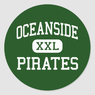 Oceanside - Pirates - High - Oceanside California Classic Round Sticker