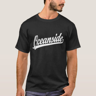 Oceanside script logo in white T-Shirt