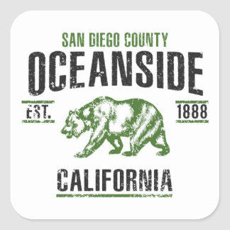 Oceanside Square Sticker