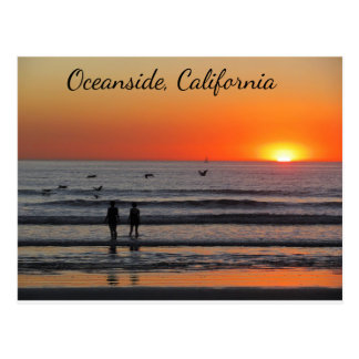 Oceanside Sunset Postcard