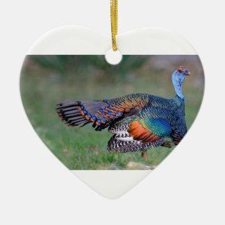 Ocellated Turkey in Guatemala Ceramic Ornament
