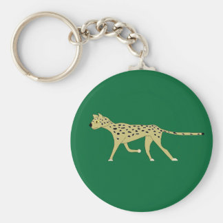 ocelot basic round button key ring