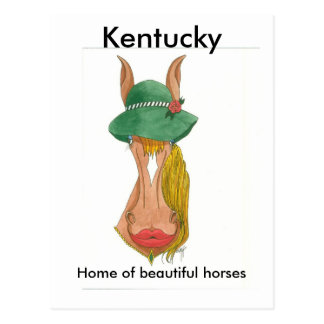 OceTDS184, Kentucky, Home of beautiful horses Postcard