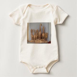 Ocho carvings baby bodysuit