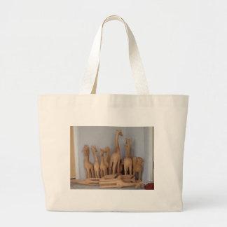 Ocho carvings large tote bag