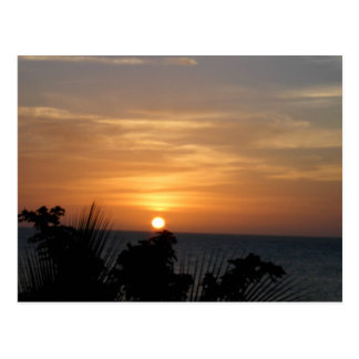 Ocho Rios Sunset in Jamaica Postcard