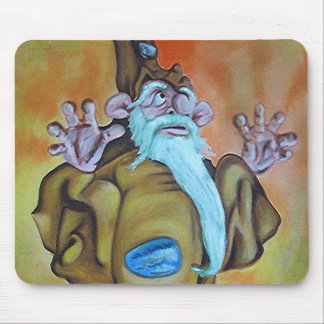 Ochre Wizard Oil Mouse Pad