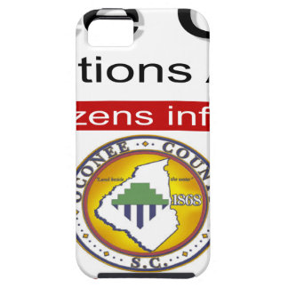 Oconee County Road Conditions and Wrecks Novelties Tough iPhone 5 Case