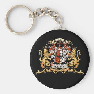 OCPKCrest Basic Round Button Key Ring