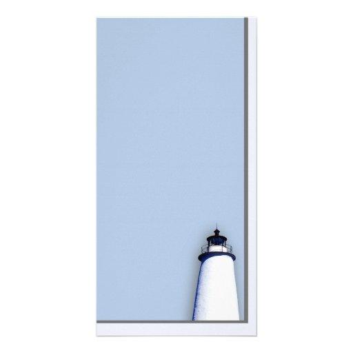 Ocracoke Lighthouse Customized Photo Card