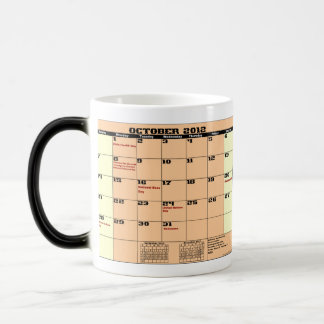 Oct. 2012 Law Justice Calendar Coffee Mug See Note