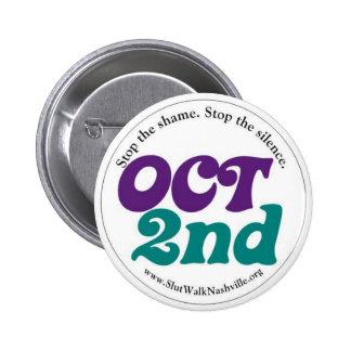 Oct 2nd Round 6 Cm Round Badge