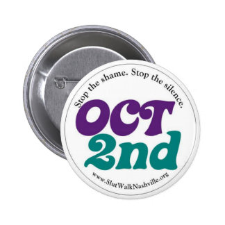 Oct 2nd Round 6 Cm Round Badge