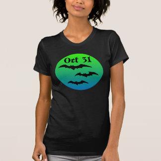 Oct 31 Bats and Moon T Shirt