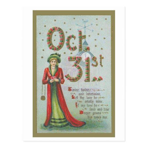 Oct. 31 Vintage Postcard Reproduction