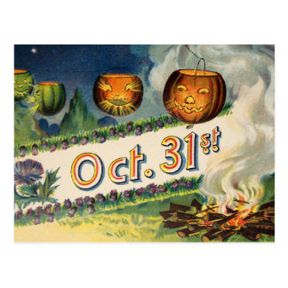 Oct 31st (Vintage Halloween Card) Postcard