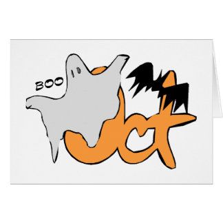 Oct BOO Greeting Cards