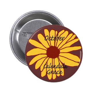 Oct Calendula Grace button