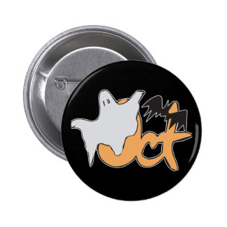 Oct Ghost and Bat Pin
