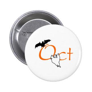 Oct Halloween Pinback Button