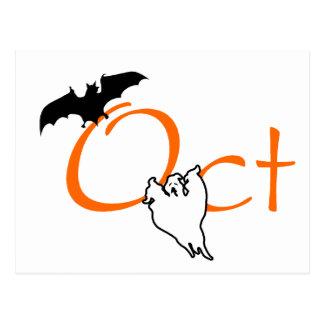 Oct Halloween Post Card