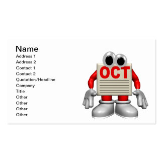 Oct Pack Of Standard Business Cards