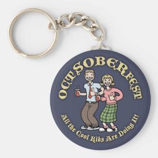 Oct-Sober-Fest Key Ring