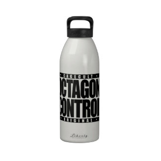 OCTAGON CONTROL: Mixed Martial Arts Fighter, Black Drinking Bottles