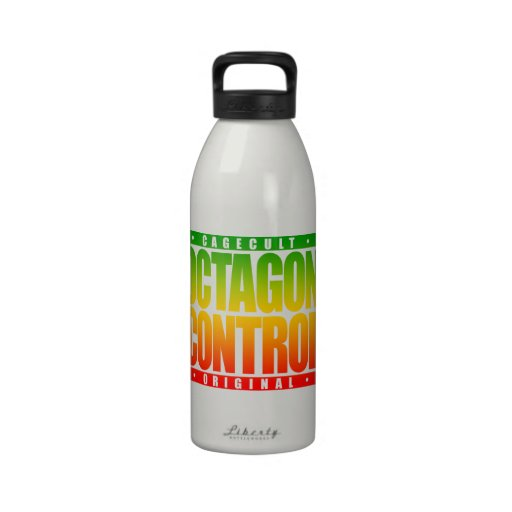 OCTAGON CONTROL: Mixed Martial Arts Fighter, Rasta Water Bottle