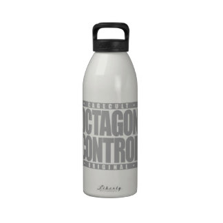 OCTAGON CONTROL: Mixed Martial Arts Fighter Silver Drinking Bottle